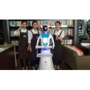 穿山甲Amy艾米 智能商业服务机器人 无轨送餐迎宾机器人