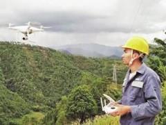 红河县供电局首次使用无人机巡视线路